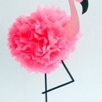 How to Make a Tissue Paper Flamingo