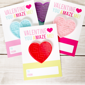 Free printable non-candy Valentines for the classroom