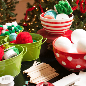 Ornament making party full of fun kid crafts for Christmas!