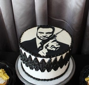 He's Aged to Perfection | James Bond Birthday Party - Custom Cake