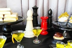 He's Aged to Perfection | James Bond Birthday Party - Chess Pieces