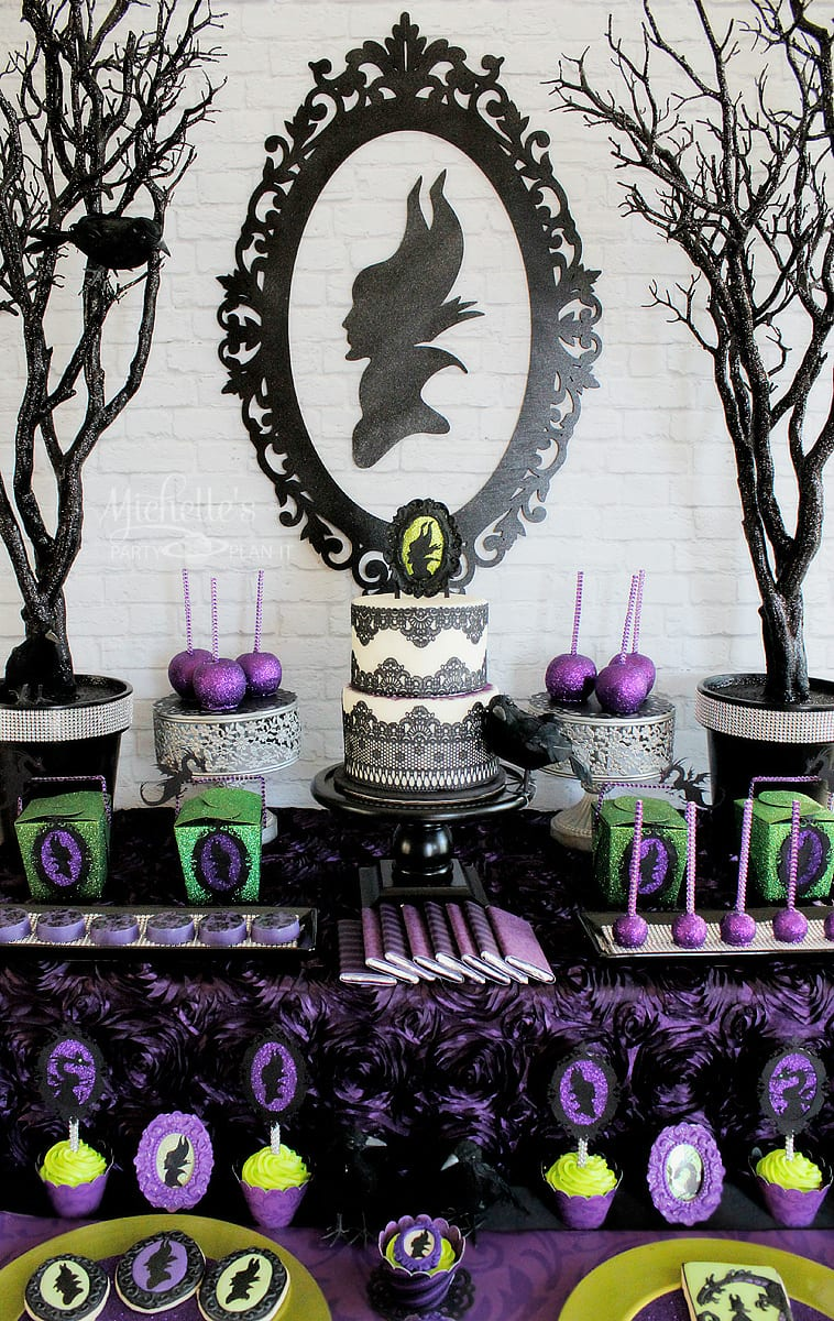 Maleficent Party Dessert Tables