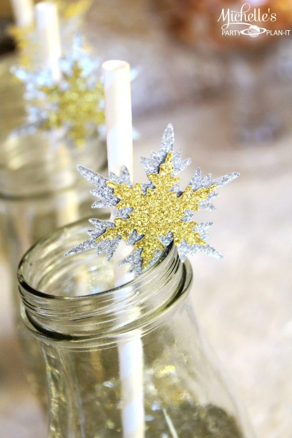 Snowflake Straw Toppers