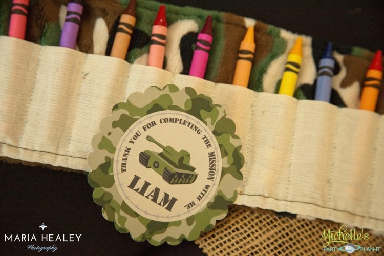 Army Party Crayon Roll