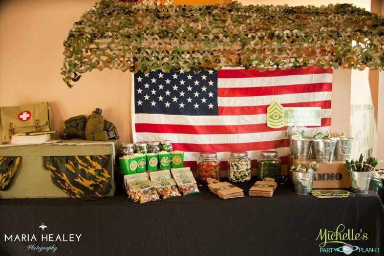Army Candy Table