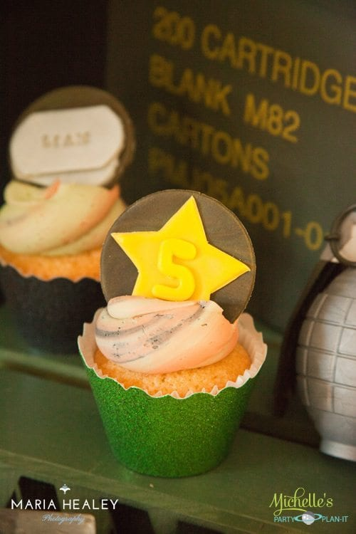 Army Party Cupcakes