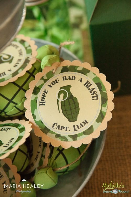 Army Party Favor Tags