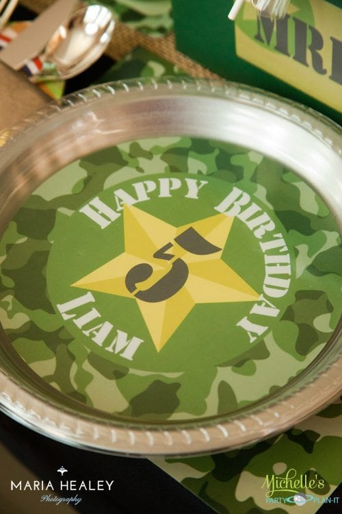 Army Party Plate