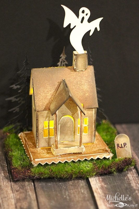 Haunted House Tealight Display