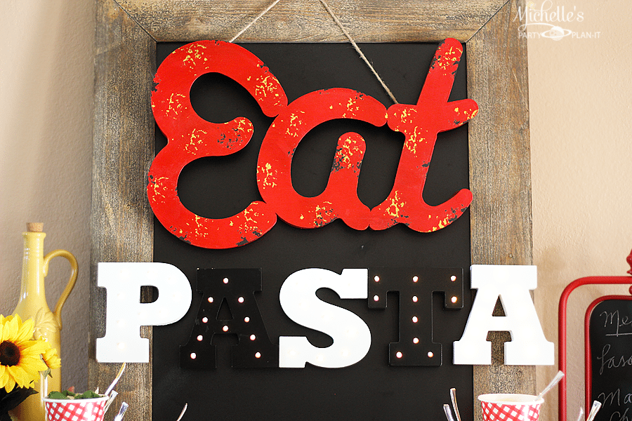 Pasta Party Ideas