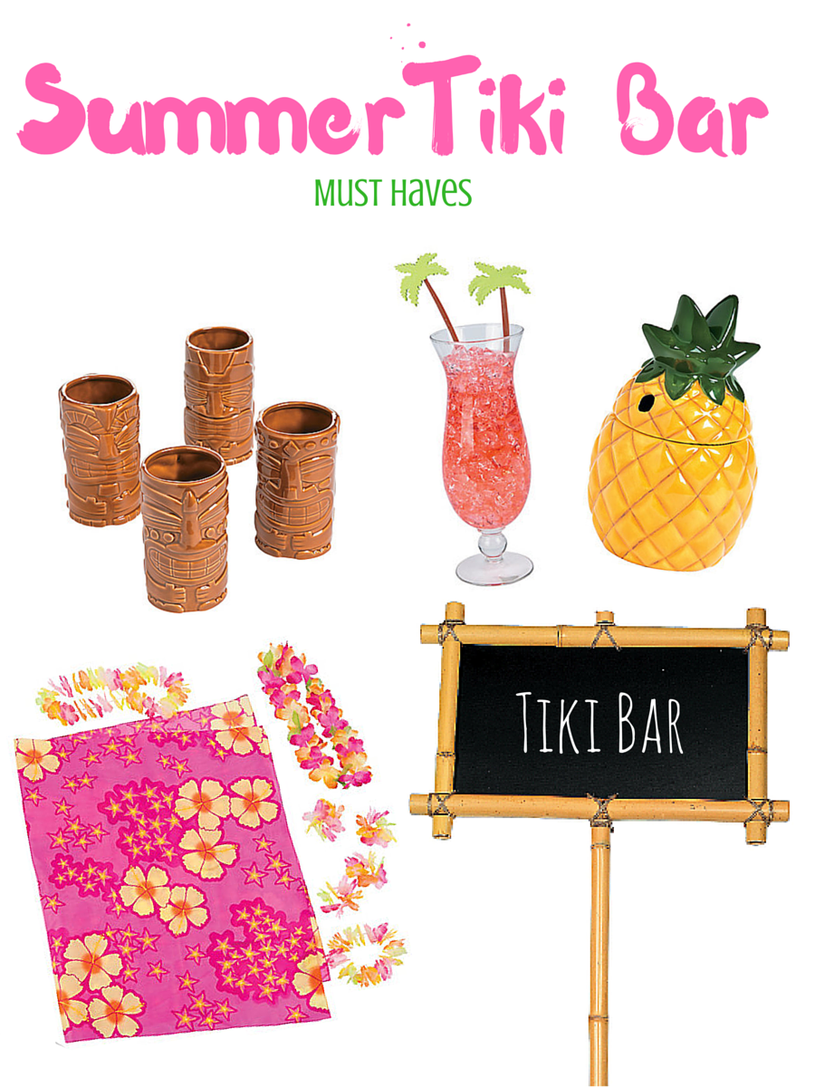 Summer Luau Tiki Bar Must Haves