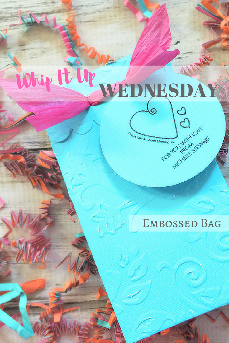 Embossed party favor bag