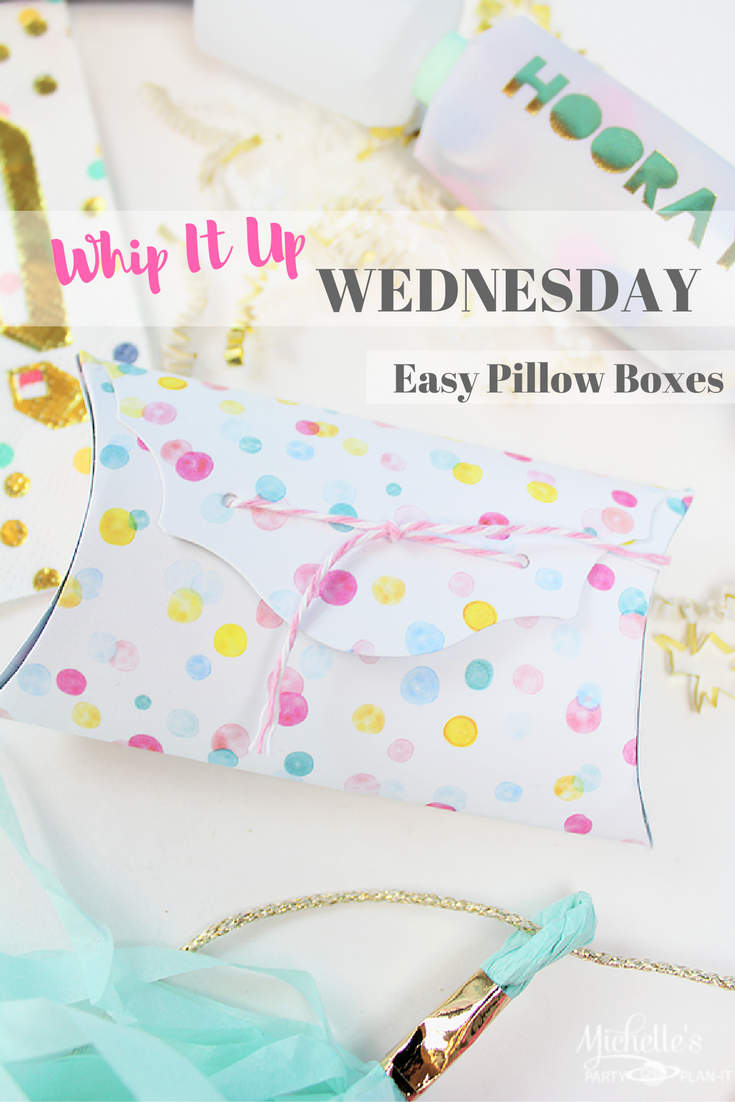 Tutorial for Easy Pillow Boxes
