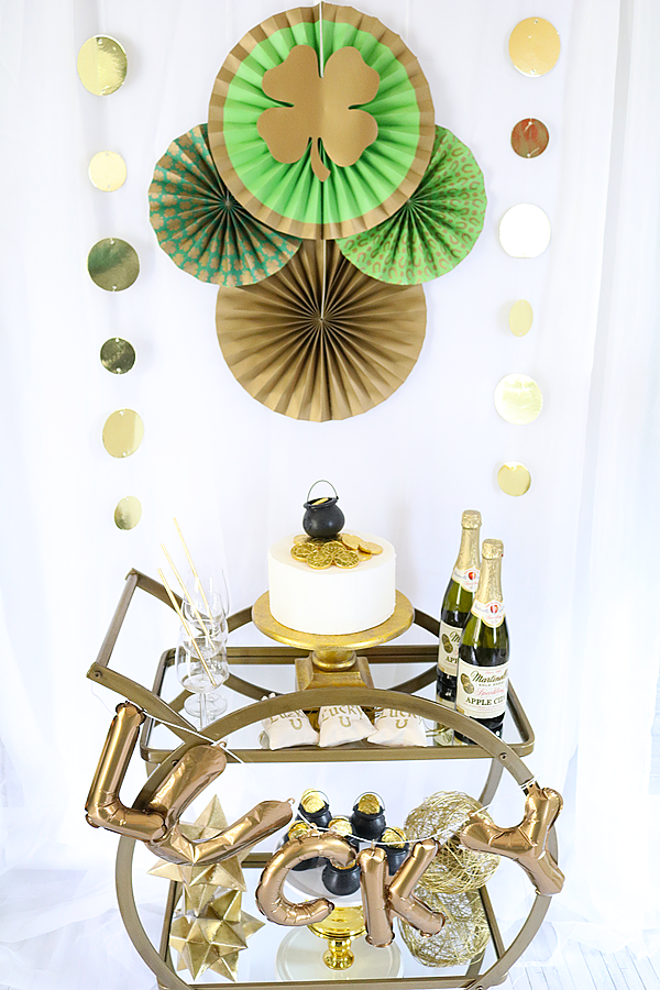 Easy St.Patrick's Day Bar Cart Ideas