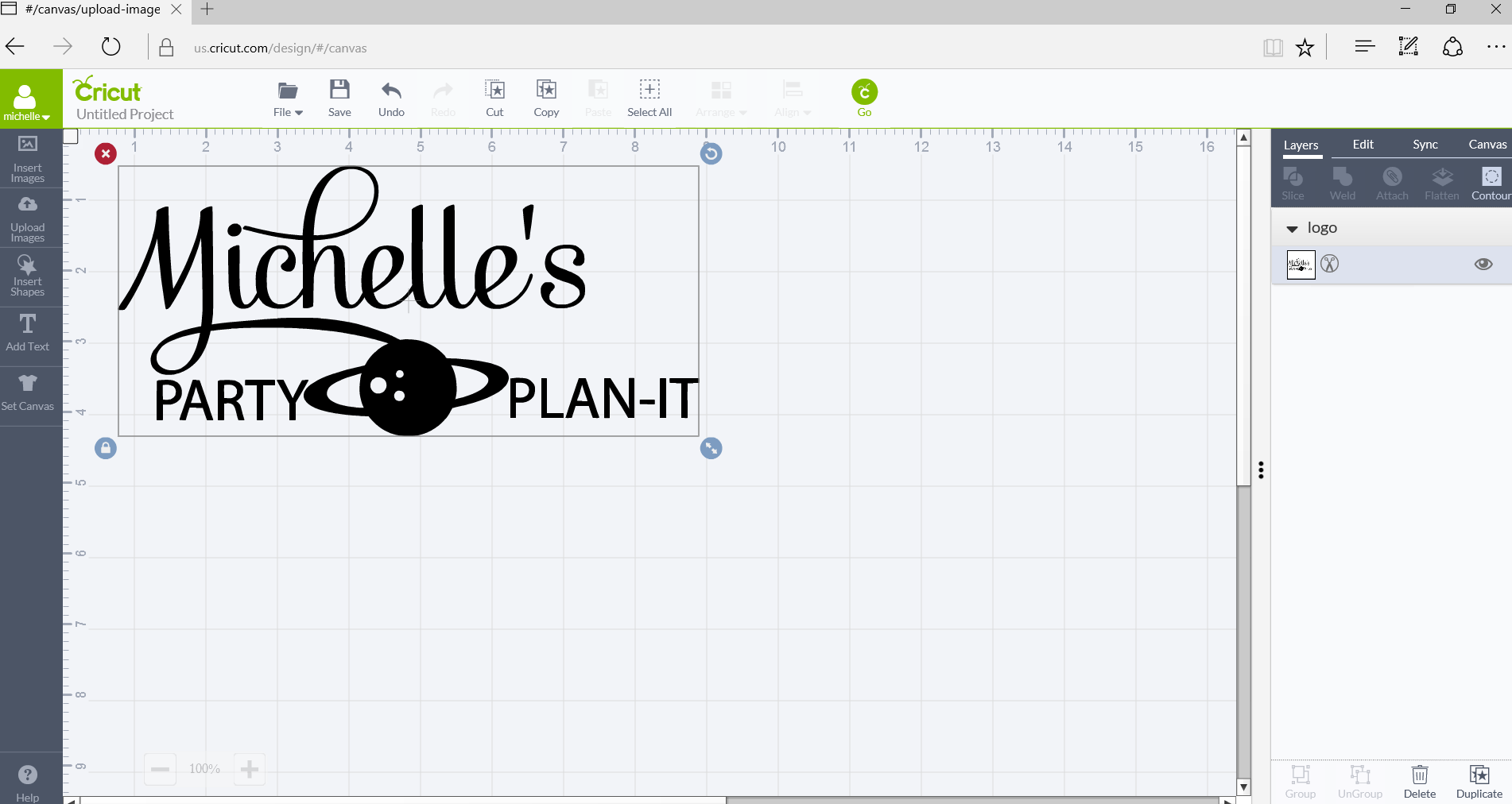 How to Upload Your Own Images with Cricut Explore Air 2 - resize image