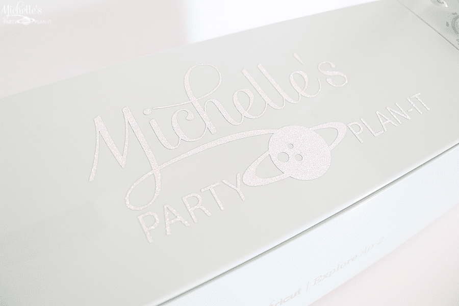 How to personalize your Cricut Explore Air 2 - detail glitter