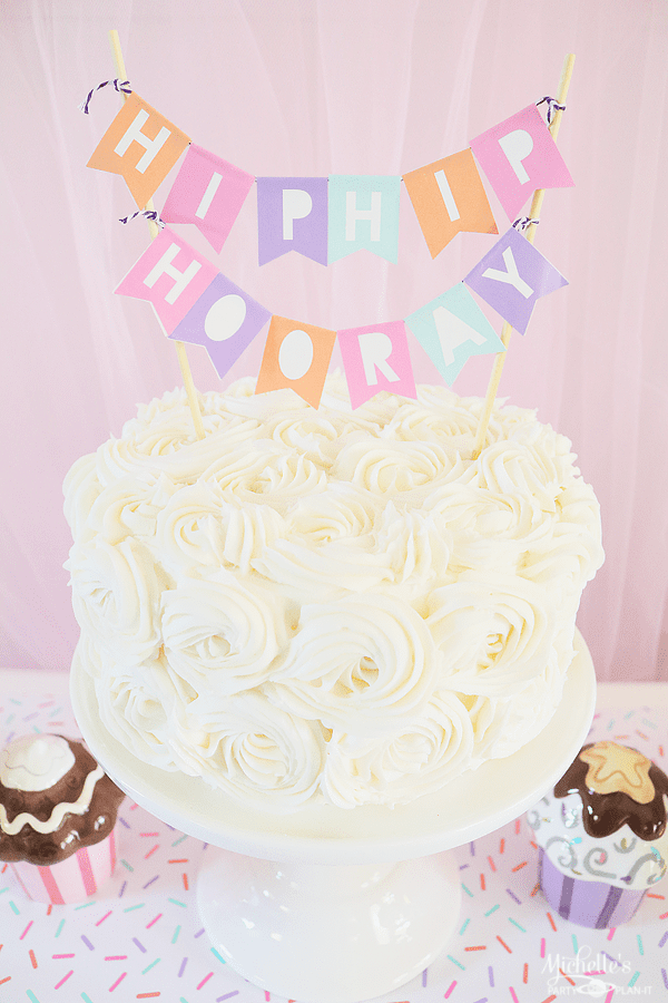 Ice Cream Party Cake Banner