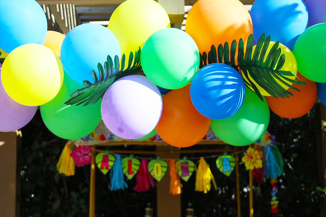 Celebrate with a Bright Luau Balloon Garland