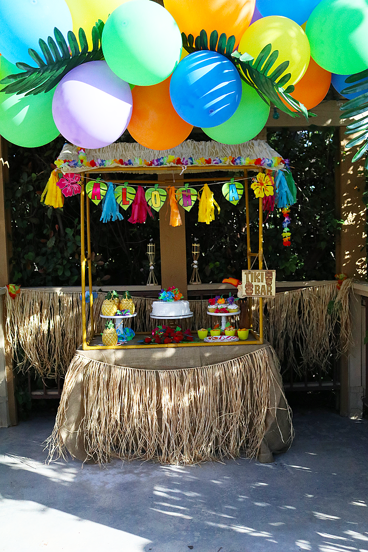 Celebrate with a Bright Luau Tiki Hut