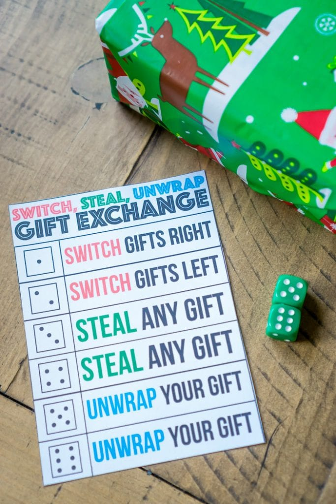 Dice Gift Exchange Game