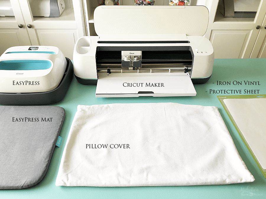 Supplies needed for creating Home Decor with Cricut