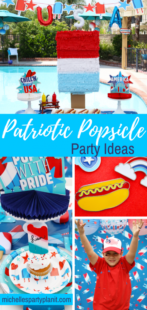 4th of July Party Ideas - Patriotic Popsicle