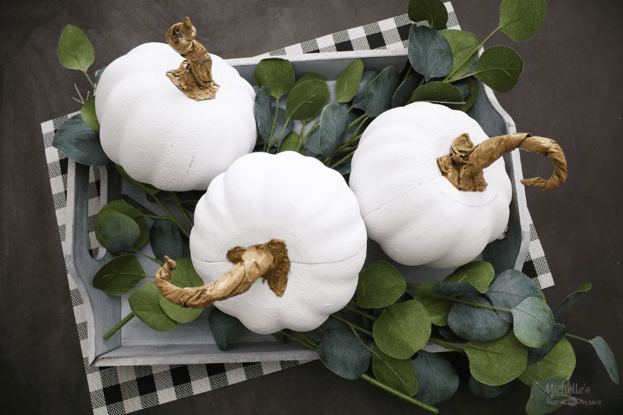 DIY Farmhouse Pumpkins - Dollar Tree Tutorial
