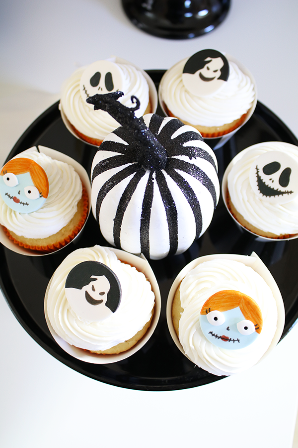 Nightmare Before Christmas Cupcake Toppers