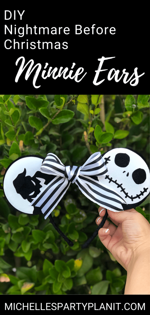 Diy nightmare before christmas minnie ears